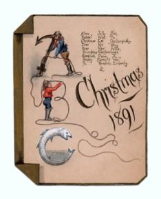 Victorian era holiday card