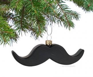 Black Mustache Ornament