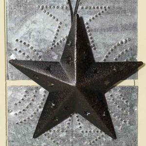 Black Rustic Tin Barn Star at Factory Direct Craft