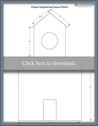 Gingerbread house chapel pattern