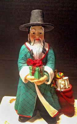 Korean Santa Ornament