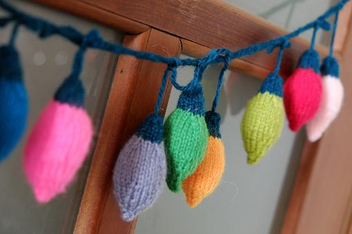 knitted Christmas lights