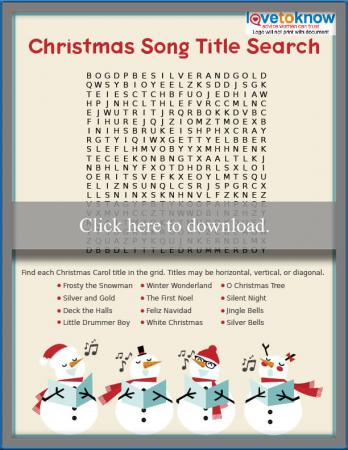 Christmas Carol Difficult Word Search