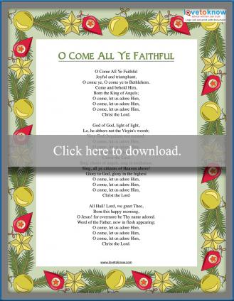 O Come All Ye Faithful lyrics