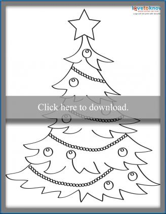 Stylized Christmas tree template
