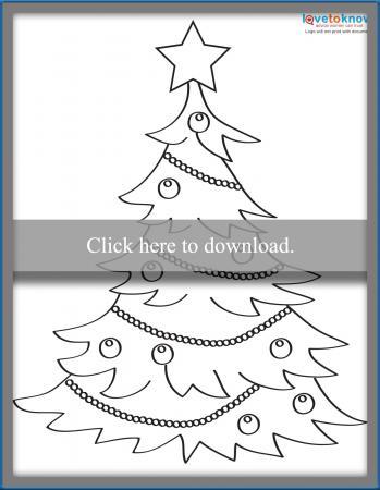 Stylized Christmas tree template