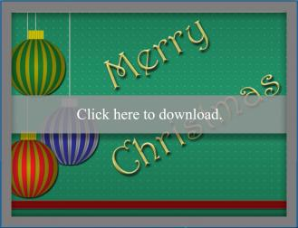 Green Merry Christmas Ornament card