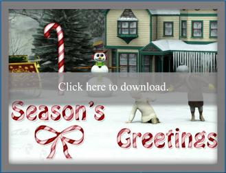 Snow scene holiday card