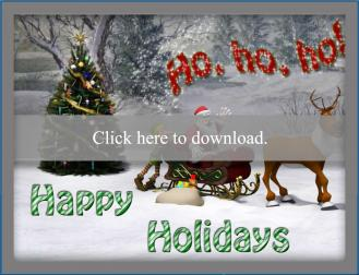 Ho Ho Ho printable holiday card