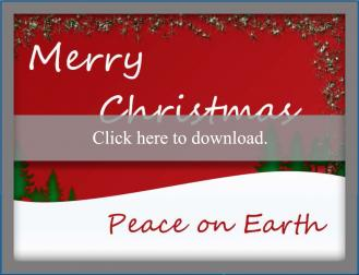 Peace on earth printable Christmas card