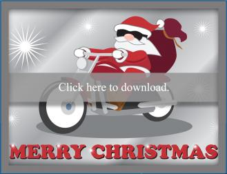 Santa on Motorcycle card