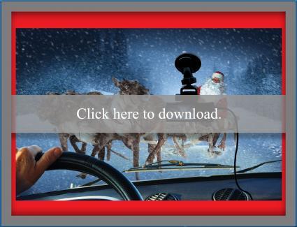 Santa caught in dashcam Christmas card