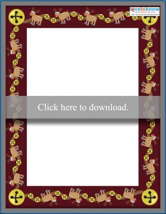Reindeer border writing paper