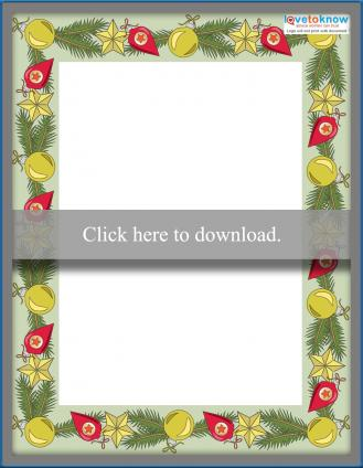 Festive holiday border writing paper