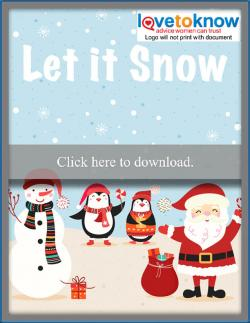 download cellphone or tablet let it snow free Christmas wallpaper