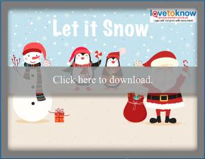 download let it snow laptop free Christmas wallpaper
