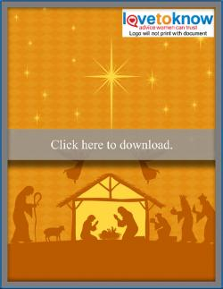 Download nativity scene free Christmas cellphone or tablet wallpaper