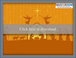 Download nativity scene free Christmas wallpaper