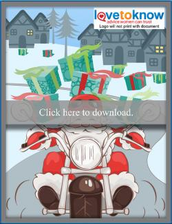 Cellphone or tablet free Motorcycle Santa