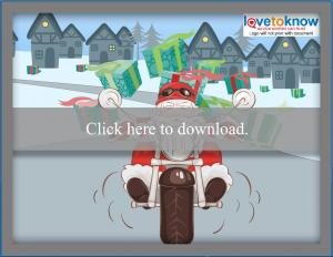laptop free biker santa wallpaper