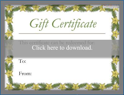 Printable gift certificate