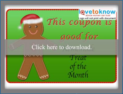 Homemade holiday treat coupons
