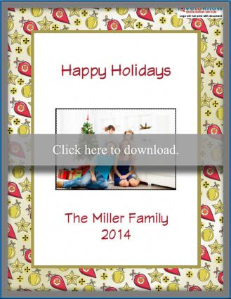 Holiday photo card printable