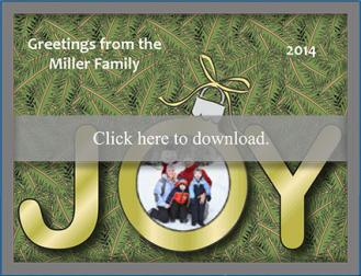 Customizable joy holiday photo card