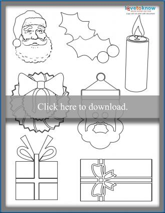 Christmas Shapes printable PDF
