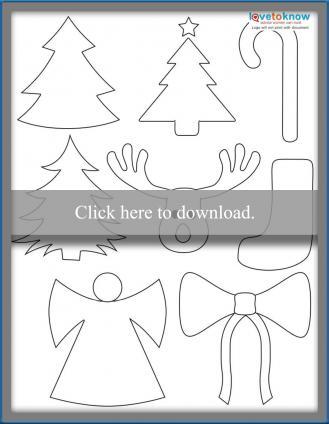 Christmas Shapes Printable