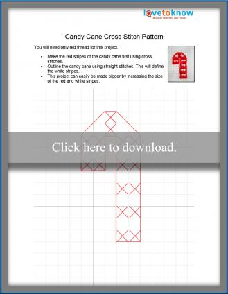 Candy cane cross stitch pattern