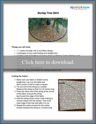 Burlap tree skirt pattern