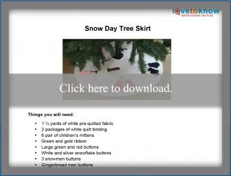 Snow Day Tree Skirt Printable