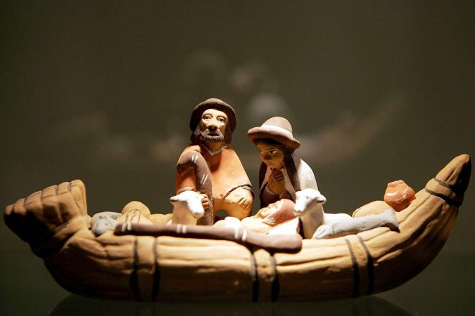 Nativity scene from Peru