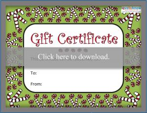 graphic about Free Printable Christmas Gift Certificates identified as Printable Xmas Reward Certificates LoveToKnow