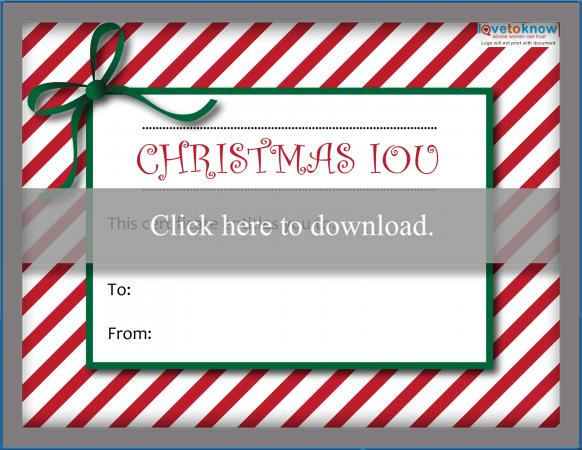 Click to download the IOU.