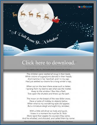 graphic regarding Twas the Night Before Christmas Printable identify Twas the Night time Ahead of Xmas Poem Evaluation and Printable