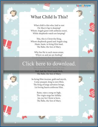 What Child is This Christmas Carol
