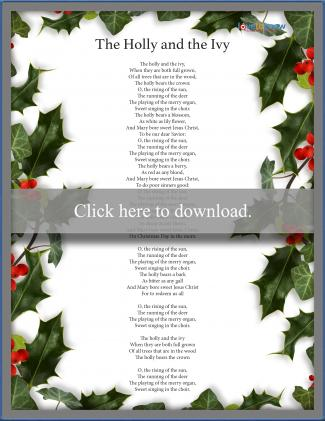 Holly and the Ivy Christmas Carol
