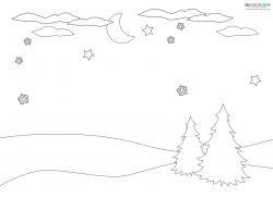 Christmas landscape