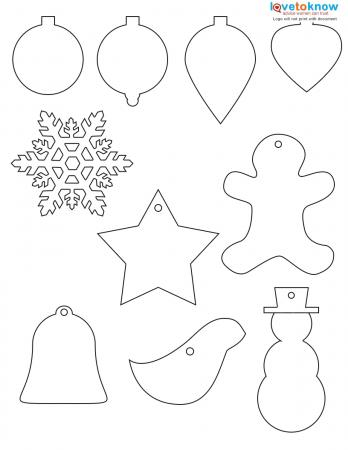 Ornament Shapes to Color