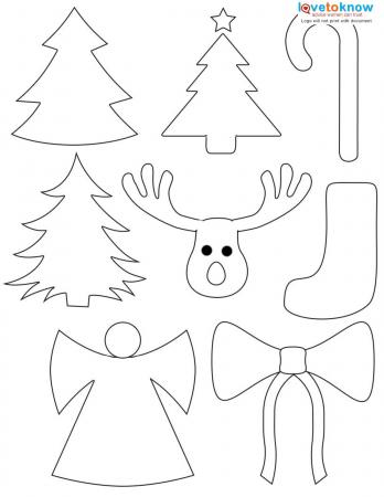 Christmas Shapes to Color