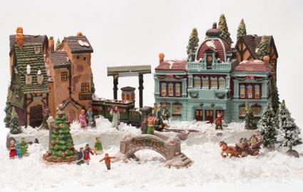 Christmas Village placement