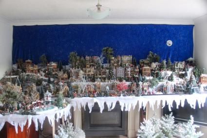 Large Christmas village