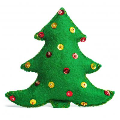 Christmas tree handmade pillow