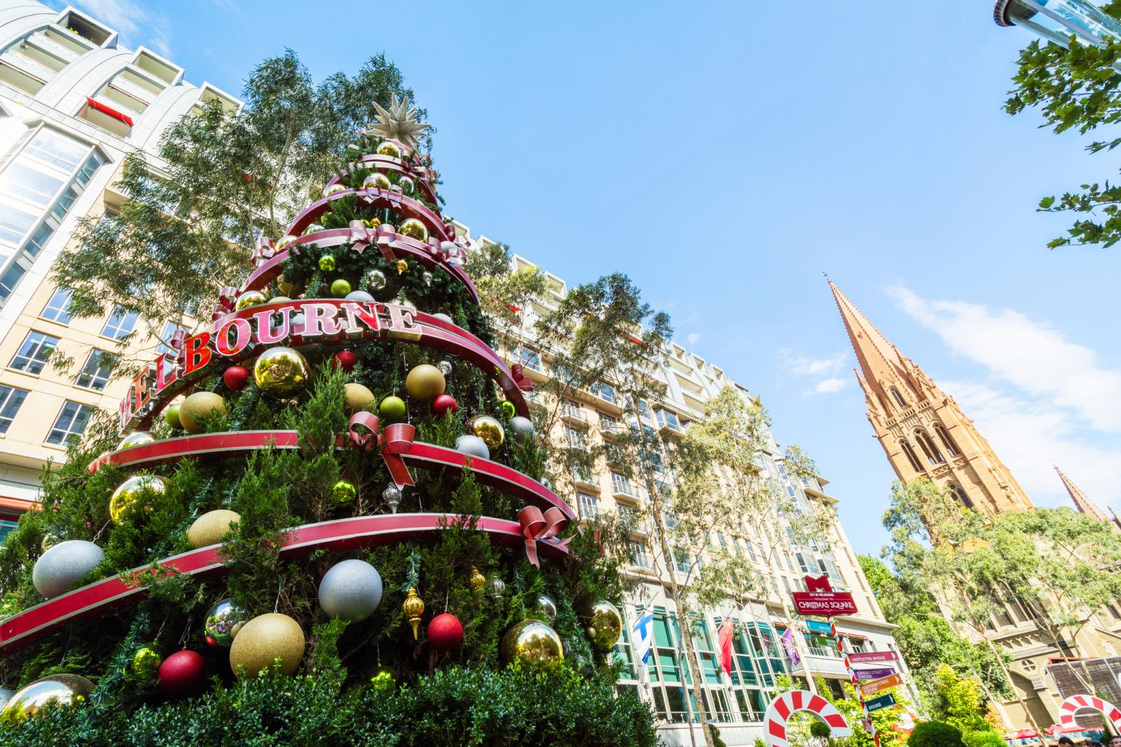 Christmas tree in Melbourne city, Australia