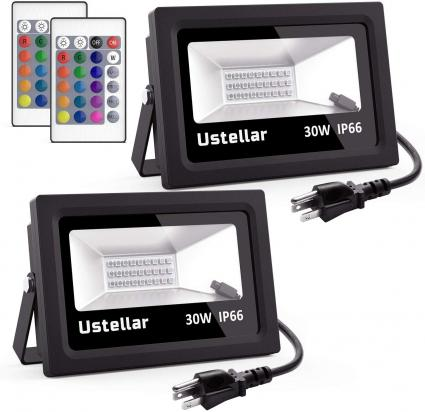Color Changing Floodlight with Remote Control