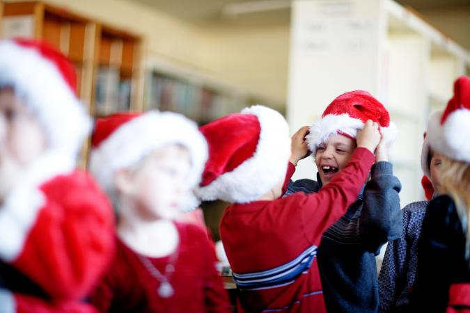 kids audition to be Santa