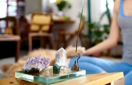 incense and crystals