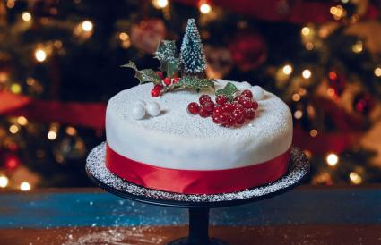 Fondant Christmas Cake